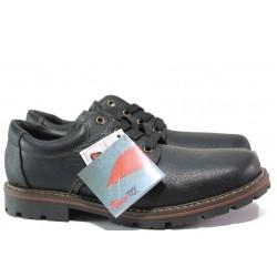 Мъжки водоустойчиви обувки от естествена кожа Rieker 17710-00 черен ANTISTRESS | Немски мъжки обувки | MES.BG