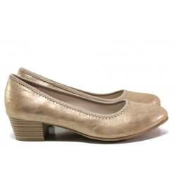 Дамски обувки на среден ток за Н крак Jana 8-22361-24Н бронз | Немски обувки на ток | MES.BG