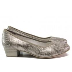 Дамски обувки със змийски принт за Н крак Jana 8-22360-24Н сив | Немски обувки на ток | MES.BG