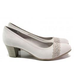 Дамски обувки на среден ток за Н крак Jana 8-22474-24H сив | Немски обувки на ток | MES.BG