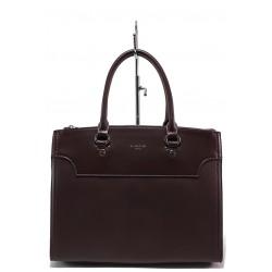 Елегантна дамска чанта ФР 5345 бордо | Дамска чанта | MES.BG