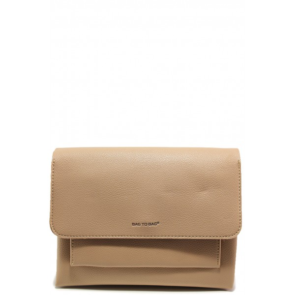 Ежедневна дамска чанта ФР 9092 бежов | Дамска чанта | MES.BG