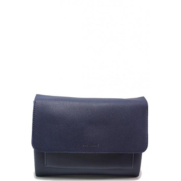 Ежедневна дамска чанта ФР 9092 син   Дамска чанта   MES.BG
