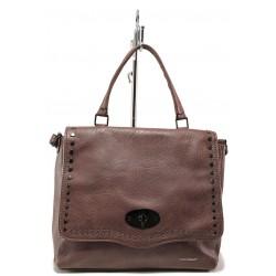 Модерна дамска чанта ФР 6026 пепел от рози | Дамска чанта | MES.BG