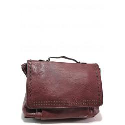 Модерна дамска чанта ФР 1946 бордо | Дамска чанта | MES.BG