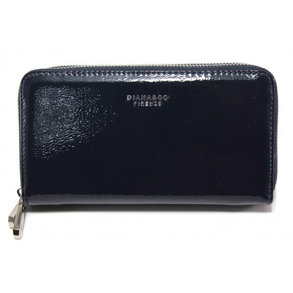 Дамско лачено портмоне ФР 1595-2 син   Дамско портмоне   MES.BG