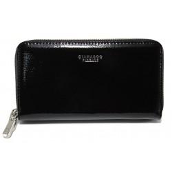 Дамско лачено портмоне ФР 1595-2 черен | Дамско портмоне | MES.BG