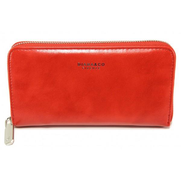 Дамско кожено портмоне ФР 1891-2 червен | Дамско портмоне | MES.BG