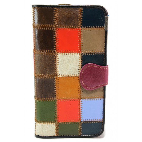 Дамско портмоне от естествена кожа ФР 8303 бордо   Дамско портмоне   MES.BG