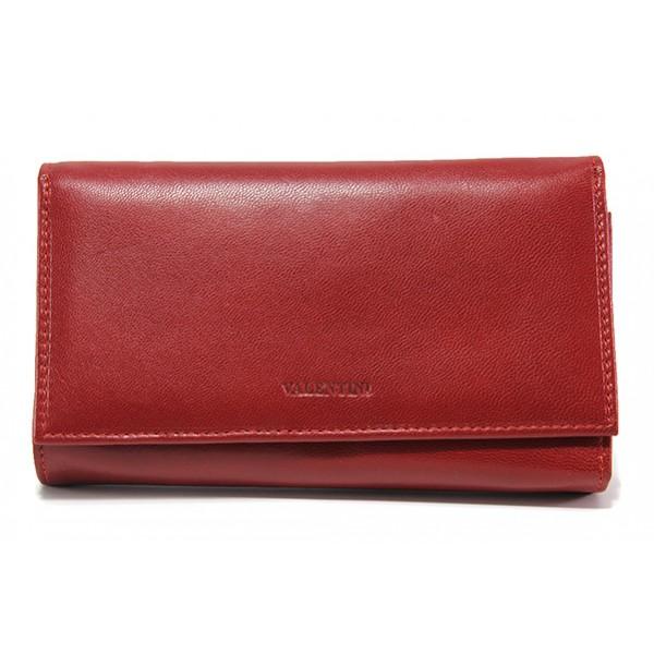 Дамско портмоне от естествена кожа ФР 306-155 червен | Дамско портмоне | MES.BG