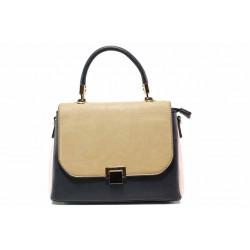 Елегантна дамска чанта ФР 31 бежов-син | Дамска чанта | MES.BG