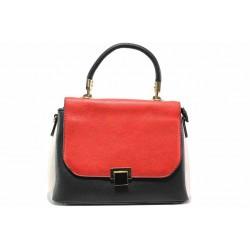 Елегантна дамска чанта ФР 31 червен-черен | Дамска чанта | MES.BG