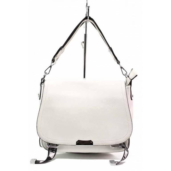 Модерна дамска чанта в актуален за сезона цвят ФР 8677 бял | Дамска чанта | MES.BG