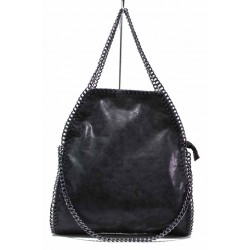 Ефектна дамска ежедневна чанта ФР 2550 черен | Дамска чанта | MES.BG