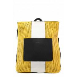 Модерна дамска чанта-раница ФР 8430-34 жълт | Дамска чанта | MES.BG