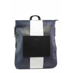 Модерна дамска чанта-раница ФР 8430-34 син-бял   Дамска чанта   MES.BG