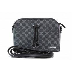Ефектна дамска чанта през рамо ФР 6481 черен | Дамска чанта | MES.BG