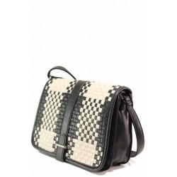Ефектна дамска чанта през рамо ФР 25378 черен | Дамска чанта | MES.BG