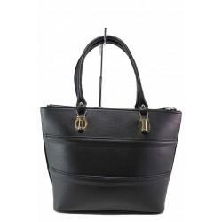 Стилна дамска чанта от качествена еко-кожа / Съни 605-5 черен / MES.BG