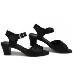 Български анатомични сандали, дамски, естествена кожа, леки / НЛМ 239-1705 черен / MES.BG
