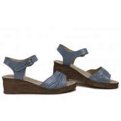 Ежедневни дамски сандали, български, естествена кожа, анатомични, леки / НЛМ 239-18206 океан / MES.BG