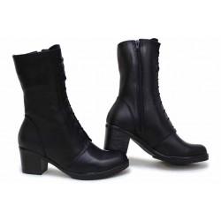 Класически дамски боти, анатомични, български, изработени от естествена кожа, леки / НЛМ 304-1611 черен / MES.BG