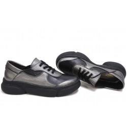 Анатомични български обувки от естествена кожа НЛМ 322-187 бакър-черен | Дамски спортни обувки | MES.BG
