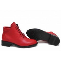 Български дамски боти, естествена кожа, формовани, анатомични, леки, топли / НЛМ 324 Аризона червен / MES.BG
