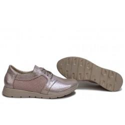 Анатомични дамски обувки, български, естествена кожа, пластично ходило / НЛМ 329-171 розов / MES.BG