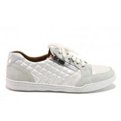 Дамски ортопедични спортни обувки от естествена кожа SOFTMODE 201 Carmen бял | Дамски маратонки | MES.BG
