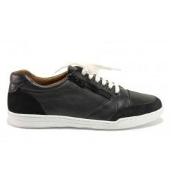 Дамски ортопедични спортни обувки от естествена кожа SOFTMODE 201 Carmen черен | Дамски маратонки | MES.BG