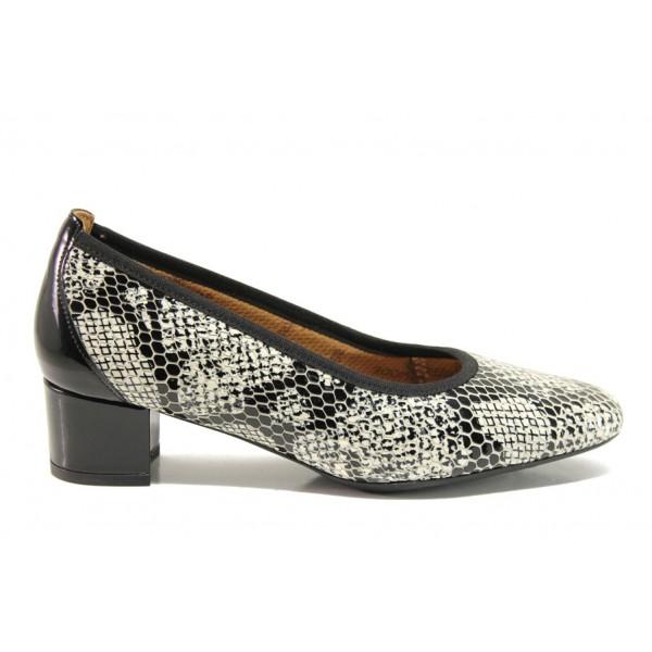 Дамски ортопедични обувки от естествена кожа SOFTMODE 7096 Madison черен | Дамски обувки на среден ток | MES.BG