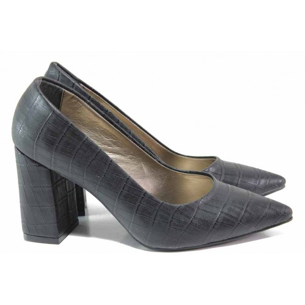 Елегантни дамски обувки ФА 43 черен   Дамски обувки на висок ток   MES.BG