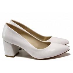 Елегантни дамски обувки ФА 873 бял | Дамски обувки на висок ток | MES.BG
