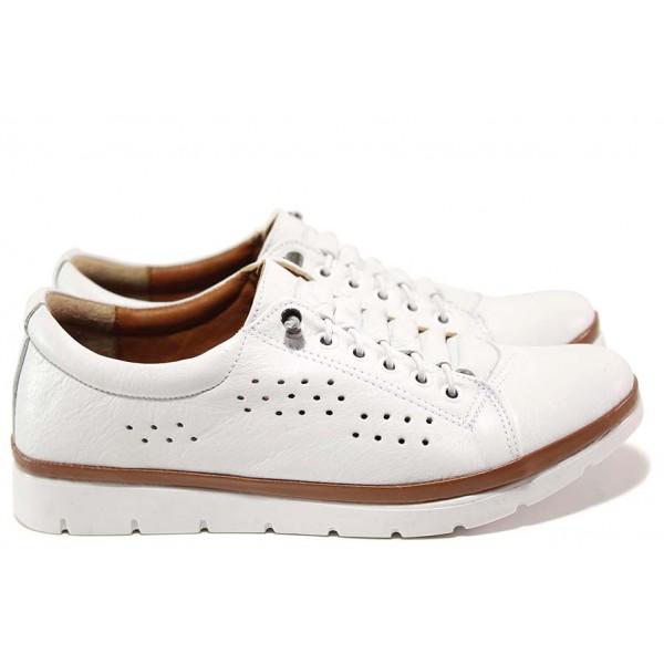 Ортопедични дамски обувки в бяло, изцяло от естествена кожа, комфортно ходило / МИ 031 бял / MES.BG
