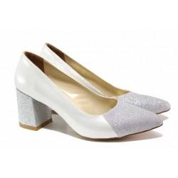 Стилни дамски обувки; изключително леко ходило; гъвкавост / ФА 400 сребро / MES.BG