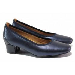 Дамски ортопедични обувки; среден ток; мека естествена кожа / SOFTMODE 7096 Madison син кожа / MES.BG