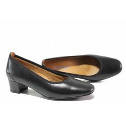Дамски обувки на ортопедично ходило; среден ток; естествена кожена стелка / SOFTMODE 7096 Madison черен кожа / MES.BG