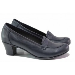 Български обувки, анатомично ходило, естествена кожа, среден ток / Ани 282-1705 син / MES.BG
