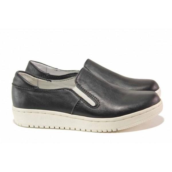 Анатомични дамски обувки, естествена кожа, произведени в България, 100% удобство / Ани 280-1608 черен / MES.BG