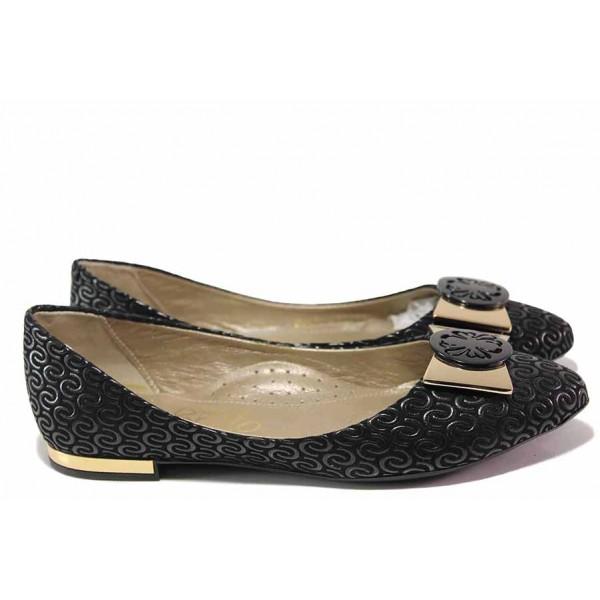 Анатомични дамски обувки, естествена кожа, олекотено ходило / Ани 2062 черен / MES.BG