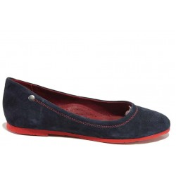 Комфортни велурени обувки, олекотено и еластично ходило / Ани 1979 т.син / MES.BG