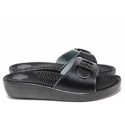 Анатомични дамски чехли с масажен ефект, регулиране на ширината, удобна извивка / Spesita 114 черен / MES.BG