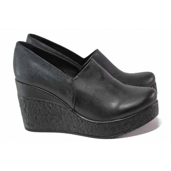 Актуални дамски обувки, анатомични, платформа, еко-кожа, леки / ТЯ 611-254 черен / MES.BG
