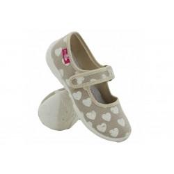 Анатомични детски обувки, дишащи, гъвкави, леки / МА 33-415 бежов сърца 26/32 / MES.BG
