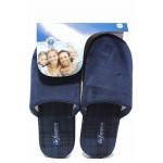 Анатомични домашни чехли, мъжки, тестилни, гъвкави / Defonseca ROMA TOP I M624 син / MES.BG