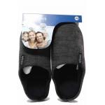 Мъжки домашни чехли, анатомични, леки, текстилни, гъвкави / Defonseca FIRENZEI M628 т.сив / MES.BG