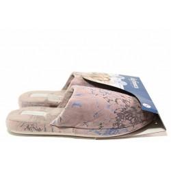 Дамски домашни чехли, анатомични, текстилни, олекотени, гъвкави / Defonseca ROMA TOP I W664 пепел от рози / MES.BG