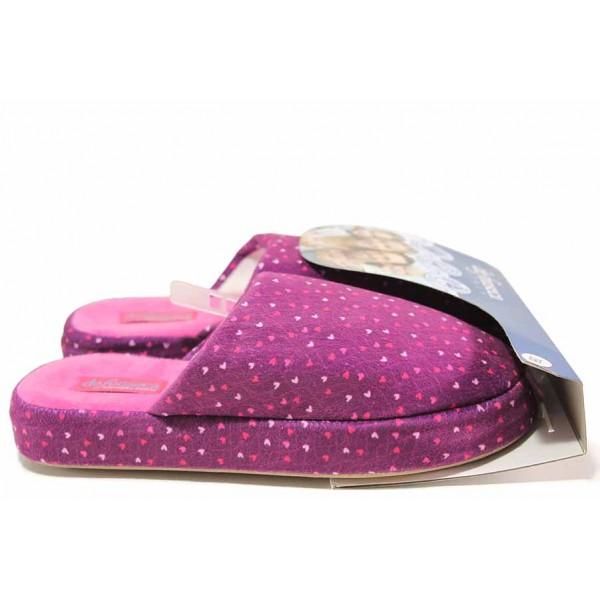 Анатомични домашни чехли, мемори пяна, платформа, текстилни, олекотени / Defonseca MATERA I W615 розов / MES.BG