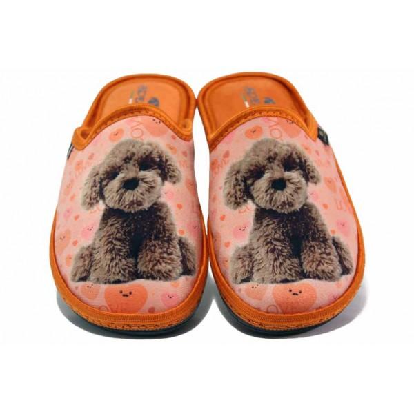 Домашни чехли, дамски, олекотени, български, анатомични, топли / Spesita 20-117 оранж / MES.BG